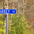 Abbey rd street sign — Stock Photo