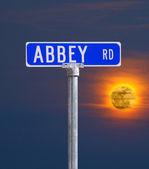 Abbey rd street sign — Stok fotoğraf