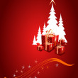 Vector Christmas background — Imagen vectorial