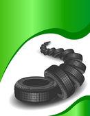 Neumáticos nuevos — Vector de stock
