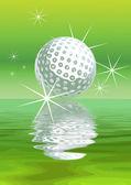 Vector golf Background — Stock Vector