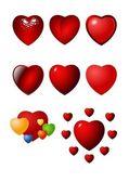 Valentine heart vector icon set — Stock Vector