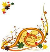 Autumn vector floral background — Stock Vector