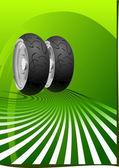 Motorcycle Tyre — Stock Vector