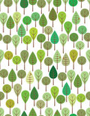 Green woods — Stock Vector