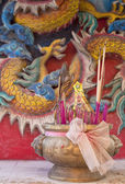 Chinese temple incense — Stock Photo
