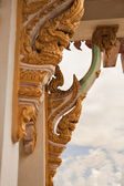 Buddhist temple decor — Stock Photo