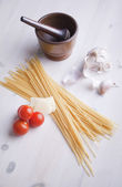 Pasta meal ingredients — Stock Photo