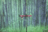 Colourful wooden gate — Stock Photo