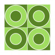 Seamless tile with green circles — Stock Photo #5210866
