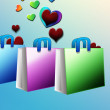 Stock Photo: Shopping with love