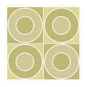 Seamless tile with beige circles — Stock Photo