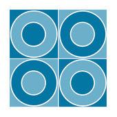 青い丸印のついたシームレスなタイル — ストック写真