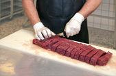 Butchers workstation — Stock Photo