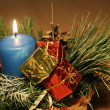 Blue candle decoration — Foto Stock