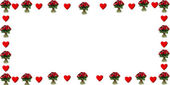 Hearts and roses — Stock Photo