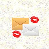 Litery i pocałunki — Zdjęcie stockowe