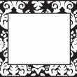 Modern black-white frame — Stock Photo