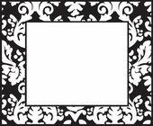 Modern black-white frame — Stock Photo