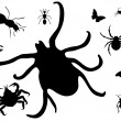 Bugs silhouette — Stock Photo