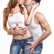Passionate couple love each other — Stock Photo #4655188