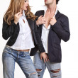 Passionate couple flirting — Stock Photo