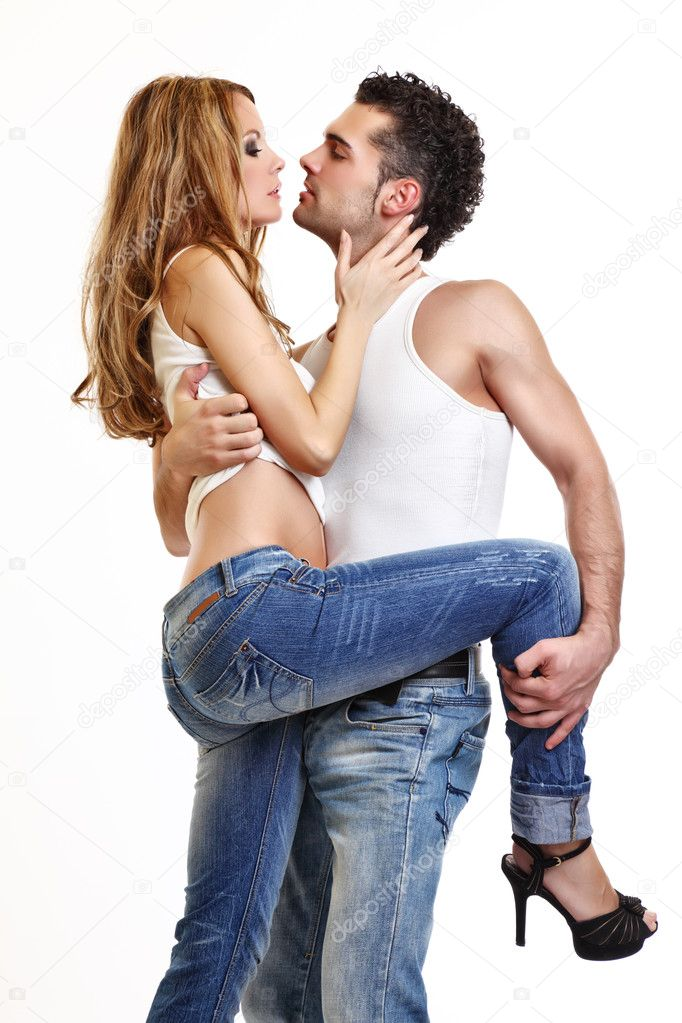 Sexy posing in studio — Stock Photo #4655199