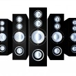 Black Speakers - Stock Photo