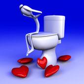 Lovesick in the restroom — Stockfoto