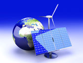 Alternative Energy - Europe — Stock Photo
