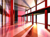 Futuristic Hallway — Stock Photo
