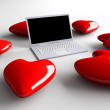 Laptop in Love — Stock Photo