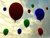 Balloons - Sunset — Stock Photo