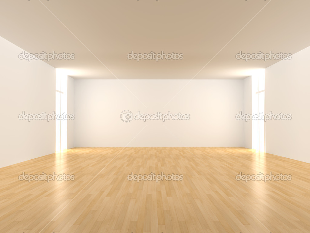 3D rendered Interior. An empty room.   Stock Photo #4398263