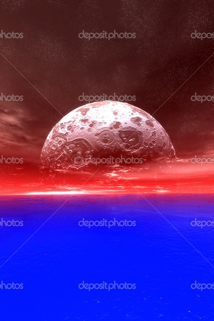 3D Illustration. A strange Horizon....  Stock Photo #4399072
