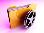 Digital Video Folder — Stock Photo