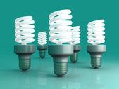 Energy Saver Light Bulbs — Stock Photo