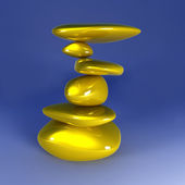 Balancing Gold Nuggets — Stock Photo