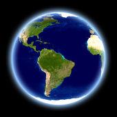 地球 - 黒の隔離 — ストック写真
