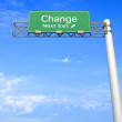 Highway Sign - Change — Stock Photo