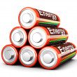 Battery Pyramid — Stock Photo