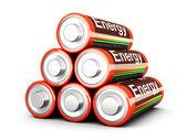 Pirámide de batería — Foto de Stock