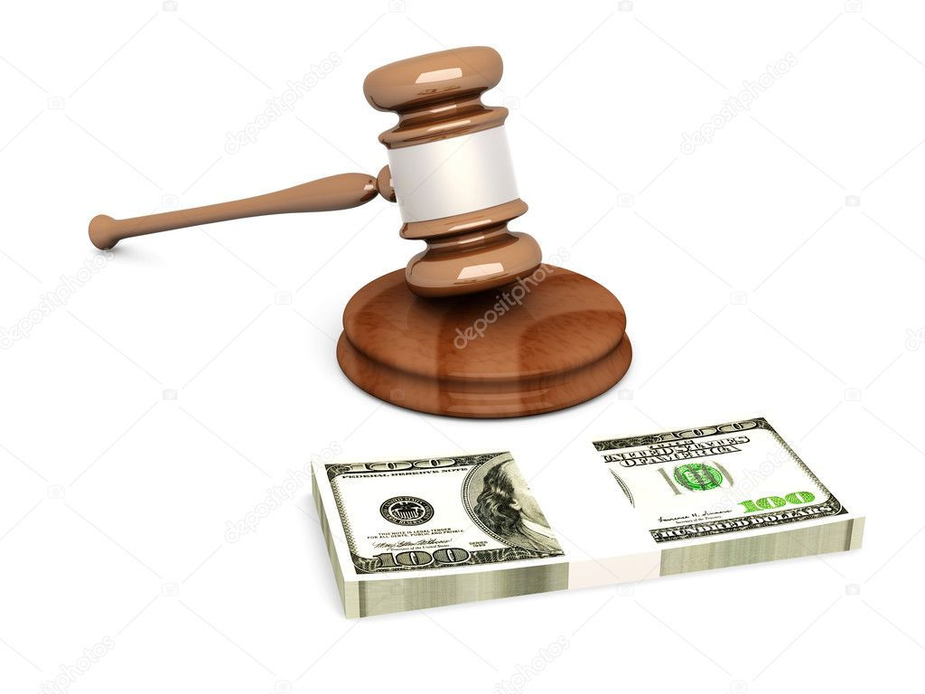 An auction (or court) hammer. 3D rendered Illustration.   — Stock Photo #4958064