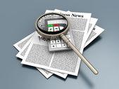 Analyzing business news — Stock Photo