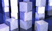 Stacked Iron Boxes — Stockfoto