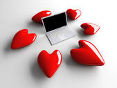 Laptop in Love — Foto de Stock