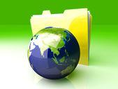 Global Folder - Asia — Stock Photo