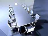 Metal Meeting Room — Stock Photo