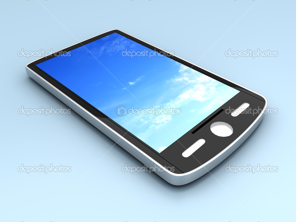 A generic Smartphone. 3D rendered illustration. — Stock Photo #5258242