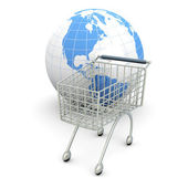 Global de compras — Foto de Stock